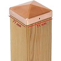 Tapas para los postes de cobre piramidal –