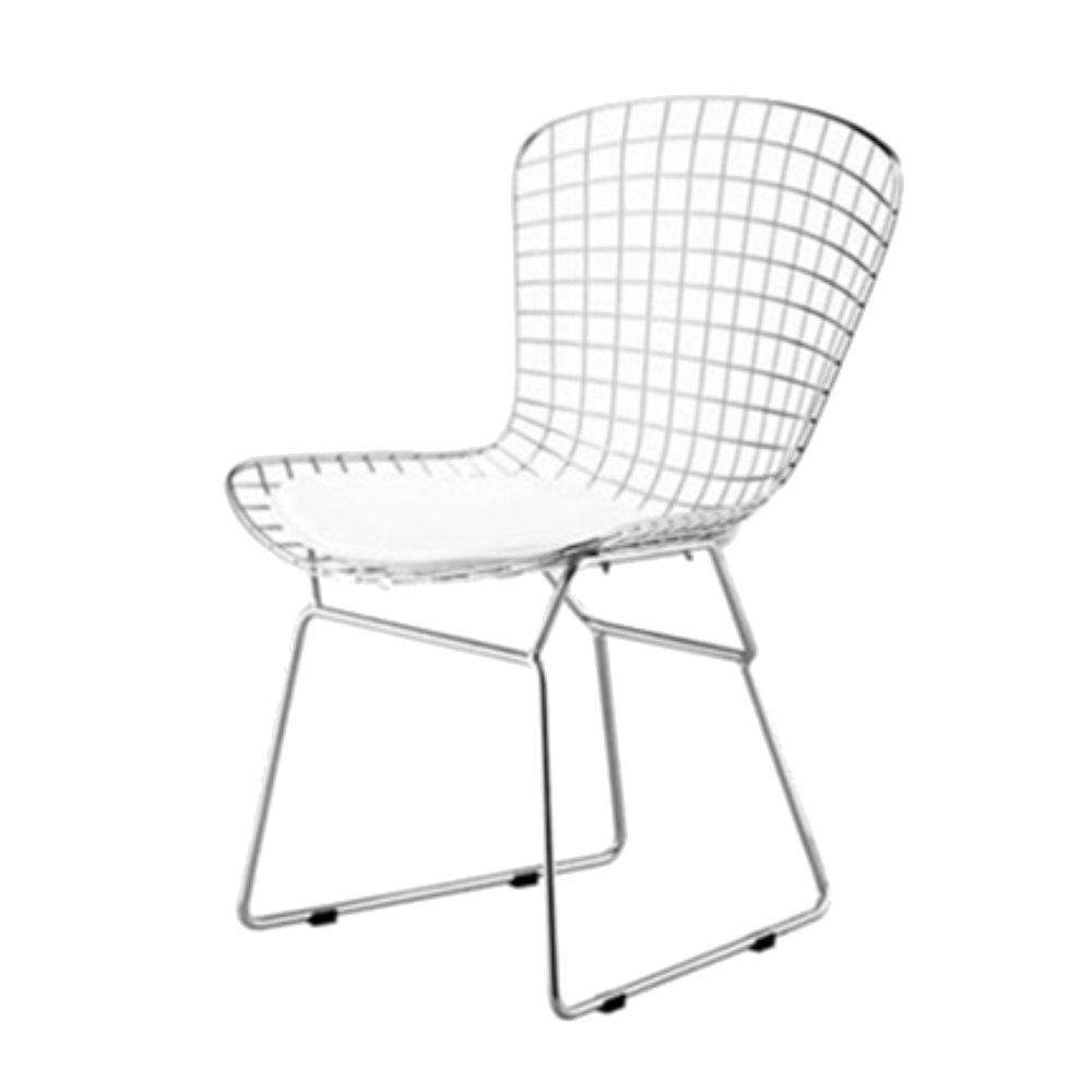 Bertoia chair white - Amazon Com Designer Modern Bertoia Style Wire Side Chair In White Home Improvement