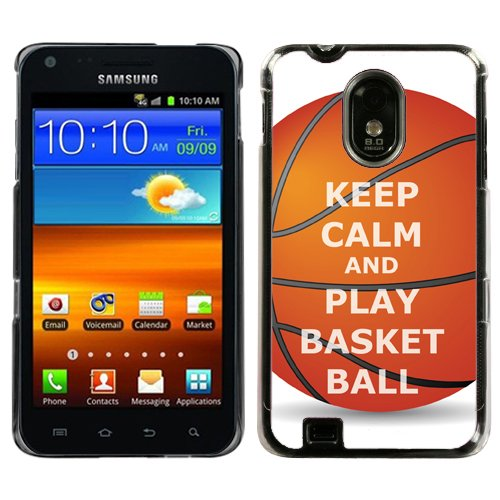 One Tough Shield Hard Cover Case for Samsung Galaxy S-II S2 Epic 4G Touch (Sprint) / Also Fits BOOST, VIRGIN MOBILE & US CELLULAR GALAXY S II - (Keep Calm / Basketball)