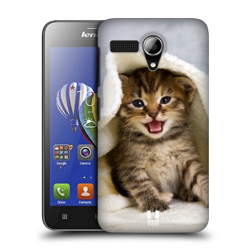 Head Case Designs Kitten in Warm Towel Cats Protective Snap-on Hard Back Case Cover for Lenovo A606