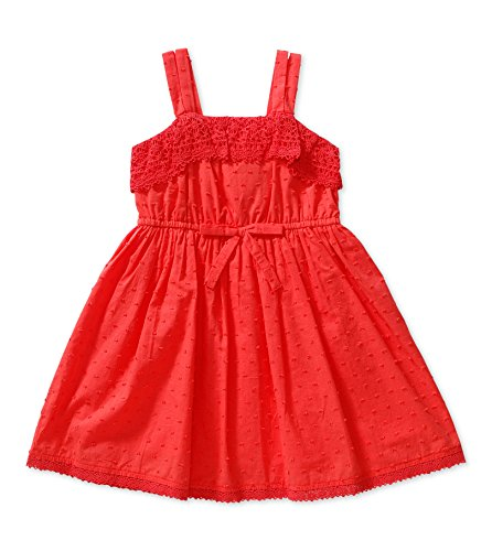 Bloome Big Girls Spring Crochet-Trim Dress With Square Neck - Dubarry - - Dress Crochet Square Neck