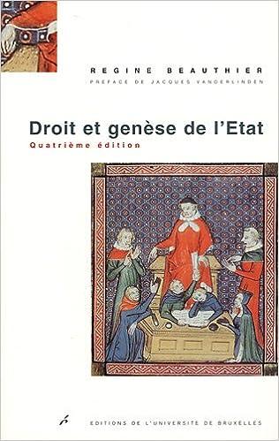 Droit et genèse de l'Etat pdf