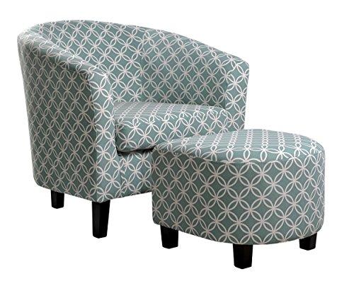 NHI Express Paisley Chair, Light Blue (Ottoman Paisley Blue)