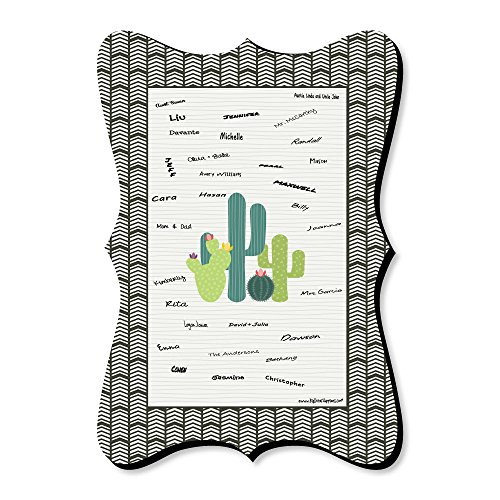 Big Dot of Happiness Prickly Cactus Party - Unique Alternative Guest Book - Fiesta Party Signature Mat by Big Dot of Happiness