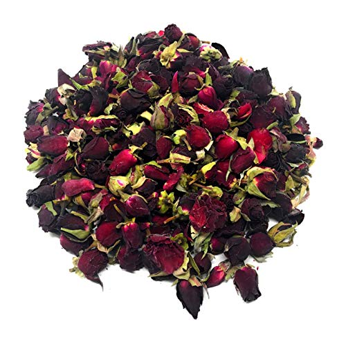 (Valentino Red Rose Buds, dried organic culinary food grad, 1.05oz, enjoy as tea infusion, decoration for Valentine's Day, sprinkles for bath, wedding, potpourri, DIY body care products)