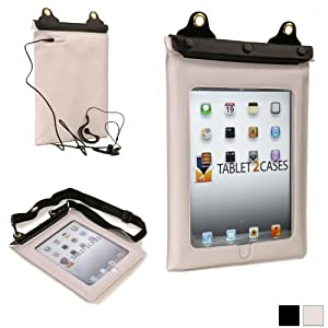iPad 2/3/4 Waterproof case, COOPER VODA Water Resistant Outdoor Protective Carrying Case Cover Sleeve with Touch Sensitive Screen for Apple iPad 2/3/4 (White)