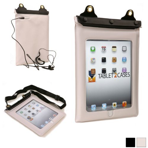 Price comparison product image iPad 2/3/4 Waterproof case, COOPER VODA Water Resistant Outdoor Protective Carrying Case Cover Sleeve with Touch Sensitive Screen for Apple iPad 2/3/4 (White)