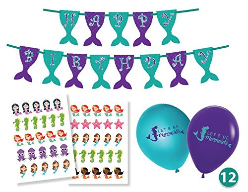 Glitter Owl Mermaid Party Supplies & Decorations for