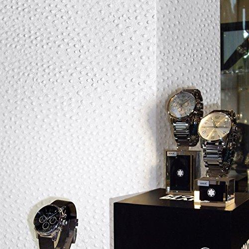 Panel decorativo autoadhesivo de diseño piel de avestruz 13400 OSTRICH con relieve 3D color blanco 2,60 m2: Amazon.es: Bricolaje y herramientas