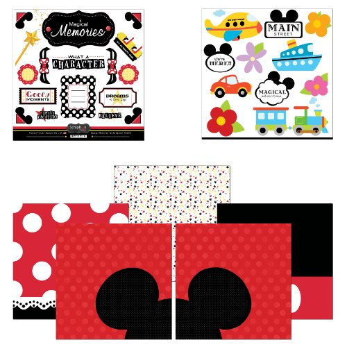 Disney Stickers For Scrapbooking - Scrapbook Customs Themed Paper and Stickers Scrapbook Kit, Magical Memories