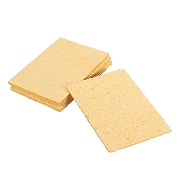 5pcs universal Soldador para esponjas Pads lötmittel Hierro Tip amarillas Cleaner Limpieza Esponja 5 x 3.5 cm: Amazon.es: Bricolaje y herramientas