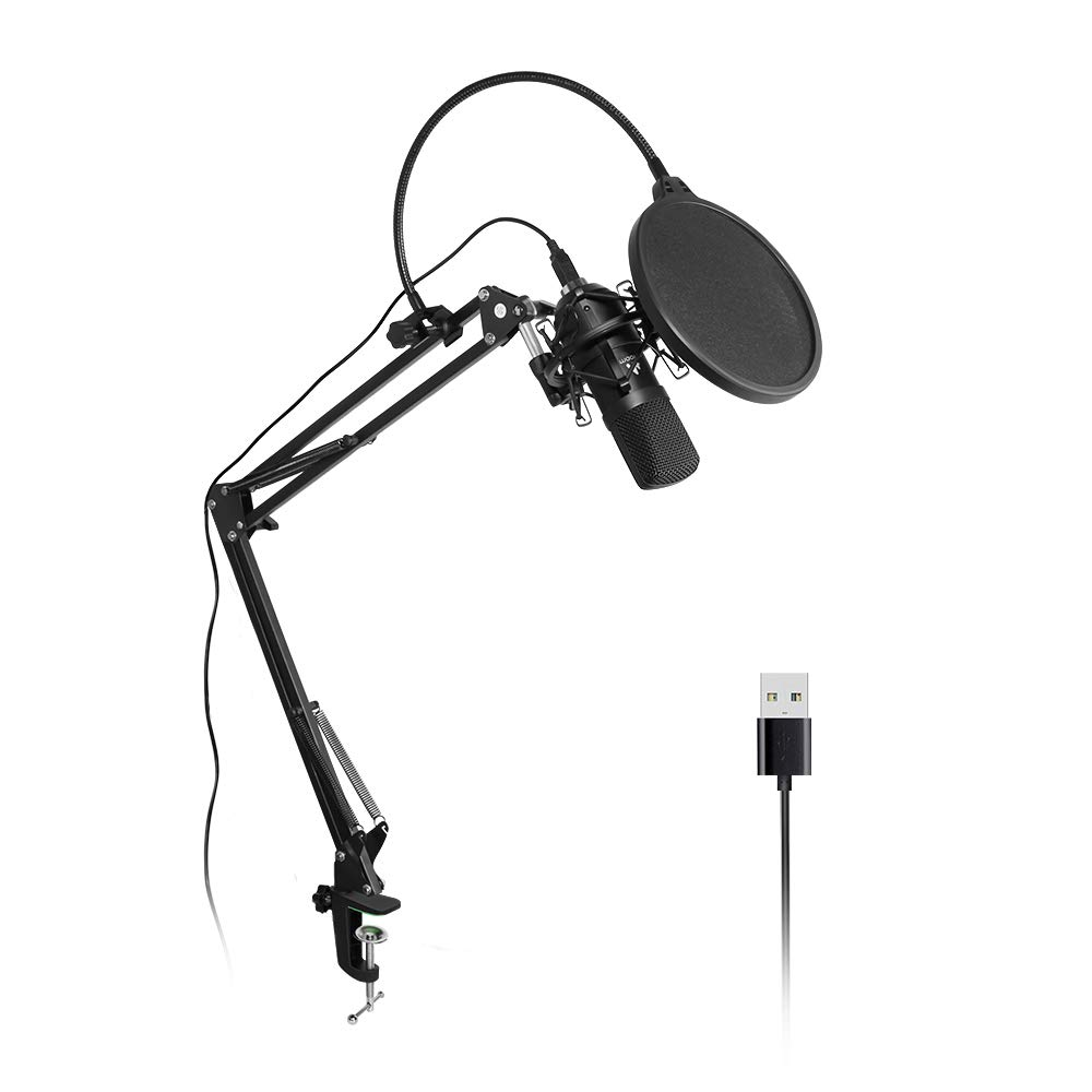 USB Microphone Kit Plug &Play MAONO AU-A04 USB Mic Home Studio Podcast Microphone Condenser Microphone with Professional Sound Chipset for Laptop MAC Or Windows Koraoke, Skype, YouTube Recording MNA0420180822
