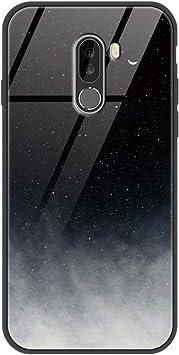 ZhuoFan Funda Xiaomi Pocophone F1, Cárcasa Silicona 3D Cristal Templado Diseño Antigolpes de Protector Souple Gel TPU Bumper Case Cover Piel Fundas para Movil Xiaomi PocophoneF1, Gris Negro: Amazon.es: Electrónica