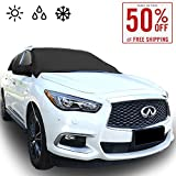 Automotive : Chanvi Windshield Cover Snow Ice Frost Rain Resistant, Waterproof Windproof Dustproof Outdoor Car Covers-2 Color (black)