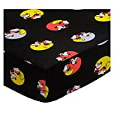 SheetWorld Fitted Portable / Mini Crib Sheet - Mickey Mouse Circles - Made In USA