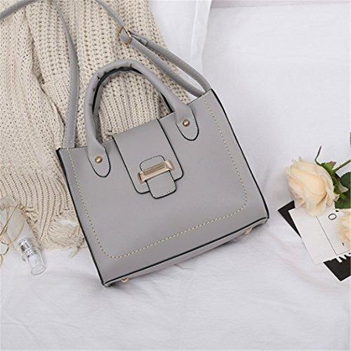 Hobo Bags Top Nodykka Handle Purse Dark Shoulder Women Tote Satchel Gray Business Leather Handbags Sw1xqC