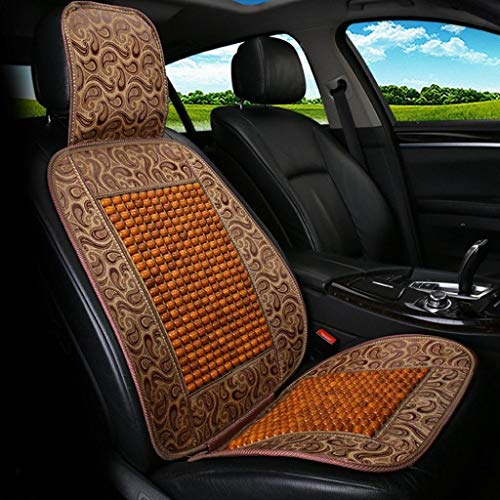 Natural Wood Bead Seat Cover Massage Cool Premium Comfort Cushion - Reduces Your Fatigue from Driving The Car Or Truck Or Your Office Chair (Color : Yellow)