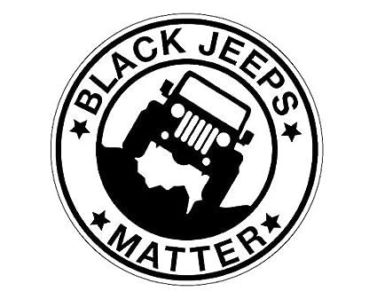 amazon black jeeps matter premium decal 5 black crawler 1962 Jeep Wrangler black jeeps matter premium decal 5 quot black crawler wrangler rubicon