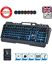 ⭐️KLIM™ Lightning - New - QWERTY Hybrid Keyboard Gamer Video Games Gaming Keyboard PC, PS4 & Xbox One + 5-Year Warranty - Metal Frame - Choice of 7 Colours [ New 2019 Version ]