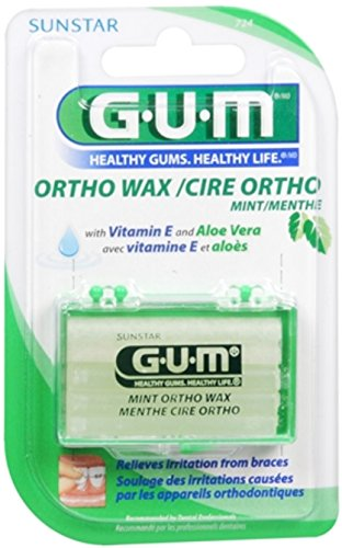 - GUM Orthodontic Wax Mint [724] 1 Each (Pack of 12)