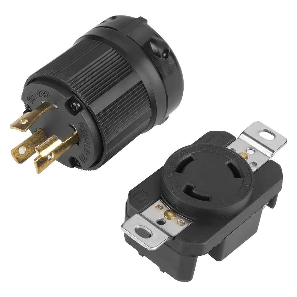 NEMA L6-30R 30A 250V Twist Lock Electrical Plug L6-30 Female With Faceplate