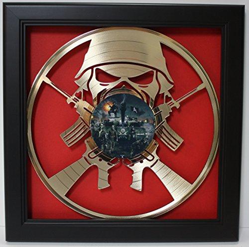 Iron Maiden Framed Laser Cut Gold Plated Vinyl Record in Shadowbox Wallart