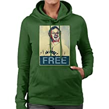 are You Being Served Mr Humphries Im Free Poster Style Women's Hooded Sweatshirt
