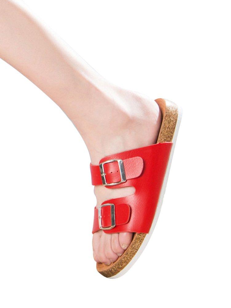 Unisexe Adulte Liège Sandales Sandales Rouge pour Femme et Homme, et Boucles Réglables Chaussures de Plage Pantoufles de Plage Rouge 26c1d03 - reprogrammed.space