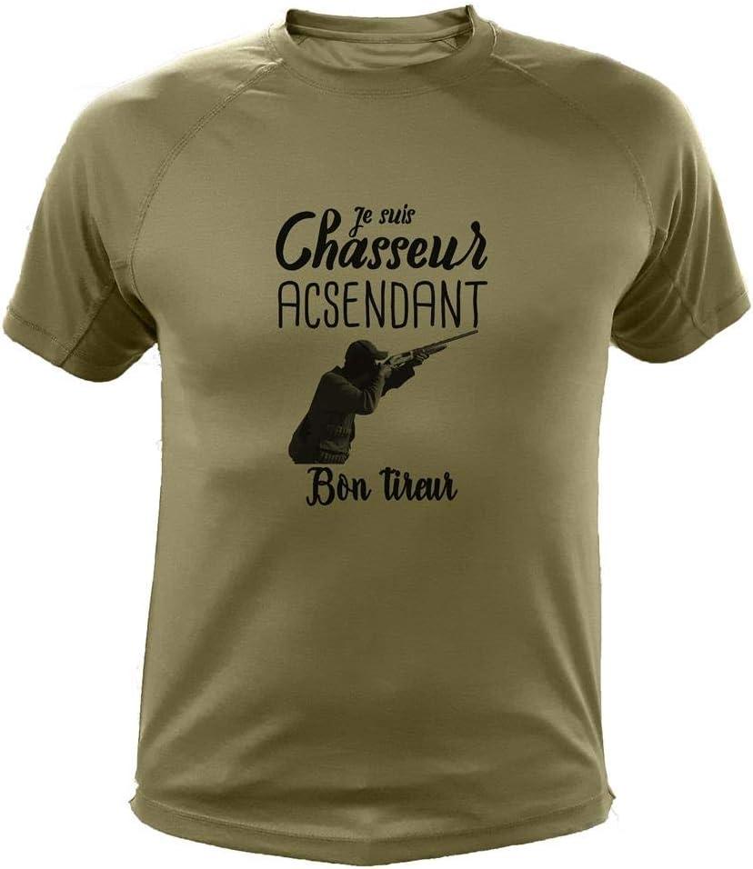Je suis Chasseur Ascendant Bon tireur AtooDog Tee Shirt id/ée Cadeau