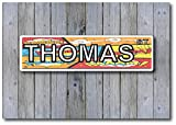 custom comic book - Personalized Child's Room Aluminum Sign with Comic Book Background Indoor or Outdoor use/Man Cave Decor/Gift