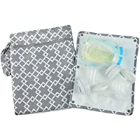 "Sarah Wells ""Pumparoo"" for Breast Pump Parts, Wet Dry Bag with Staging Mat (G..."