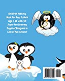 Penguin Kids Coloring Book +Fun Facts for Kids to