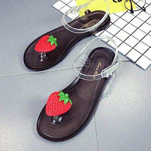 LANDFOX Mujer Fruta Flip Flops Sandalias Zapatos Chicas Flip Flop Sand Sandalias