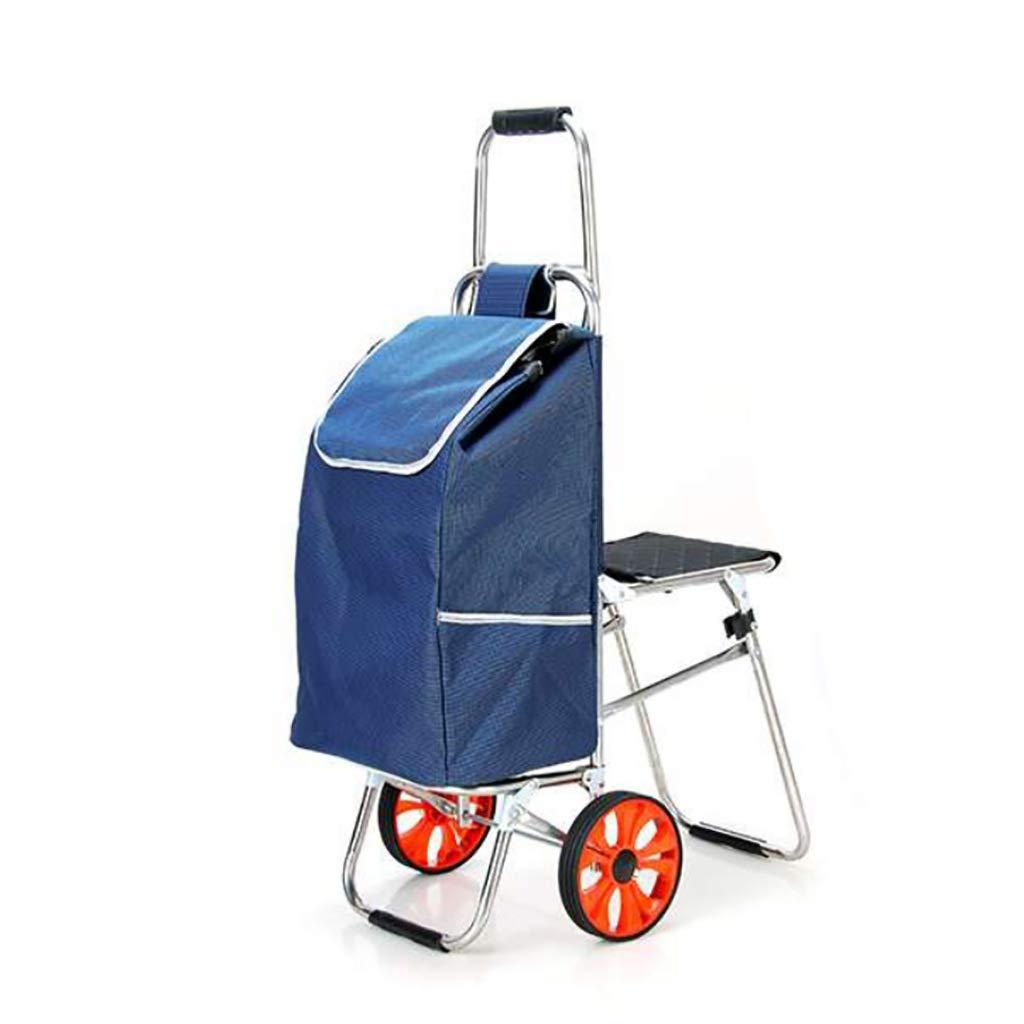 折りたたみショッピングカートポータブル旅行トレーラー家庭用荷物カートショッピングトロリースツール (色 : B)  B B07P94TPFW