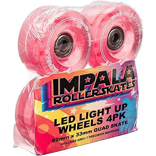 Impala Light-Up Led Wheel Set with Bearings 62mm