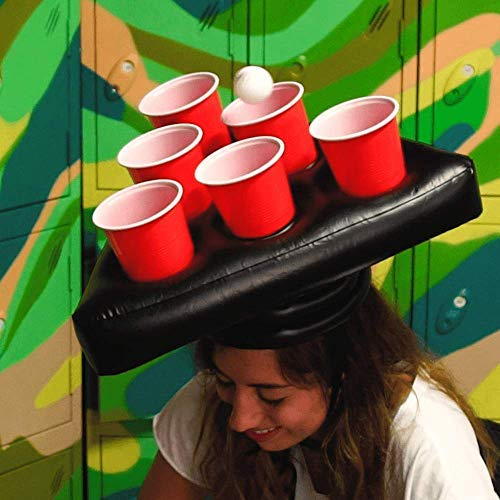 51XoBZzjiBL - Inflatable Beer Pong Hat