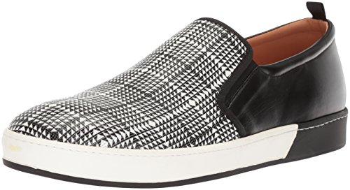 - Bacco Bucci Men's OMAK Sneaker, Black/White, 085 D US