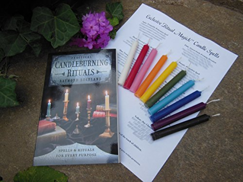 EXCLUSIVE RITUAL MAGICK CANDLE MAGICK KIT: 10 Spell/Chime Candles with Raymond Buckland's
