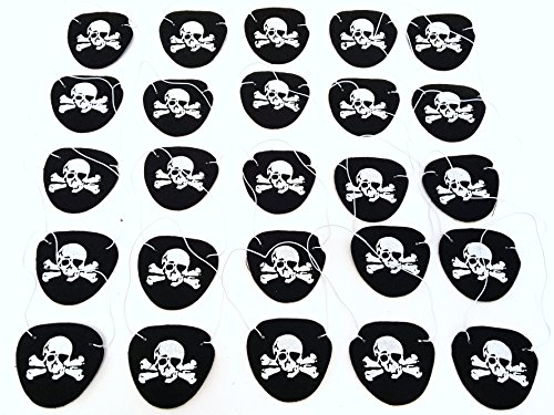 Pirate Eye Patches, Pirate Party Eye Patches, By Dondor (12 Pack)