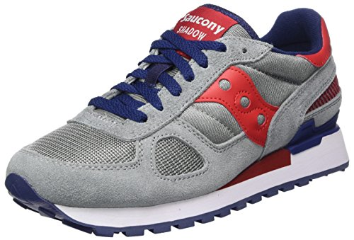 Saucony Herren Shadow Original Laufschuhe, Blau Multicolore (Grey/Red/Blue)