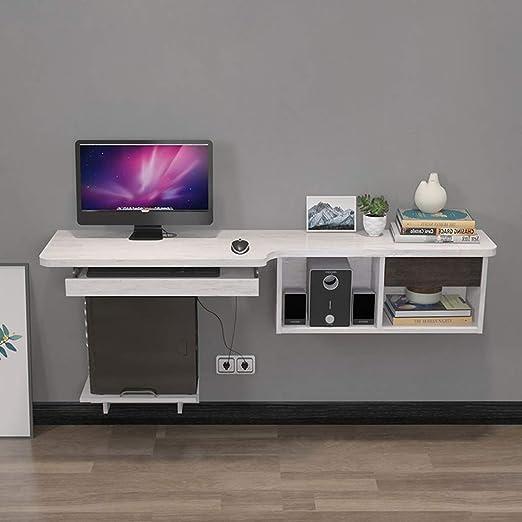 Mesa de escritorio flotante para pared con bandeja para teclado ...