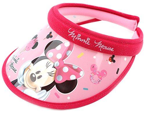 Disney Minnie Mouse Ice Cream UV Sun Protection Cap Sun Visor (Plastic Transparent Hat)