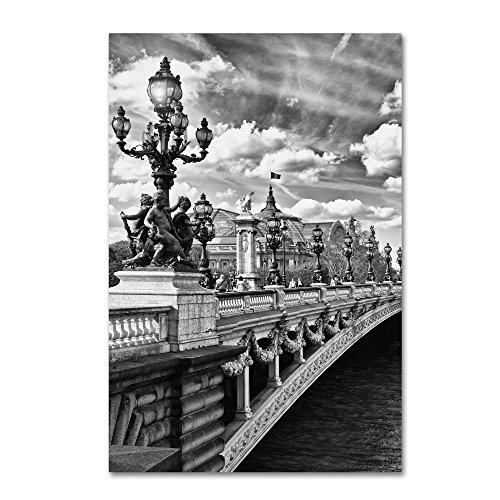 Alexandre III Paris by Philippe Hugonnard, 30x47-Inch Canvas Wall Art - Alexandre Iii Bridge