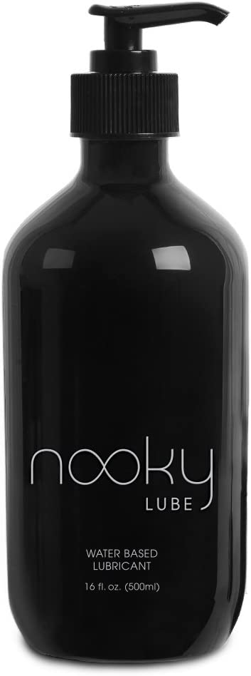 Personal Lubricant. Nooky Lube Natural Water Based Lubes for Men and Women. 16 Ounce. Made in USA.