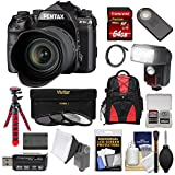 Pentax K-1 Mark II Full Frame Wi-Fi Digital SLR Camera & FA 28-105mm Lens with 64GB Card + Battery + Flash + Backpack + Tripod + Kit For Sale
