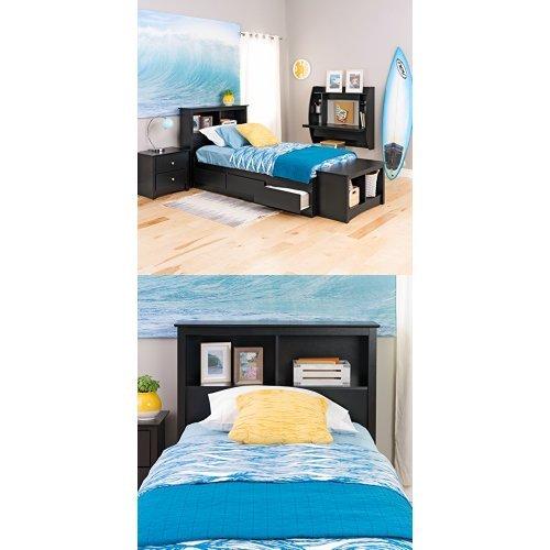 Prepac Mates Bed - Prepac  Sonoma Twin Bed and Headboard - Black