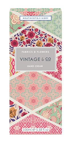Vintage & Co 100ml Fabric and Flowers Hand (100ml Hand Cream)