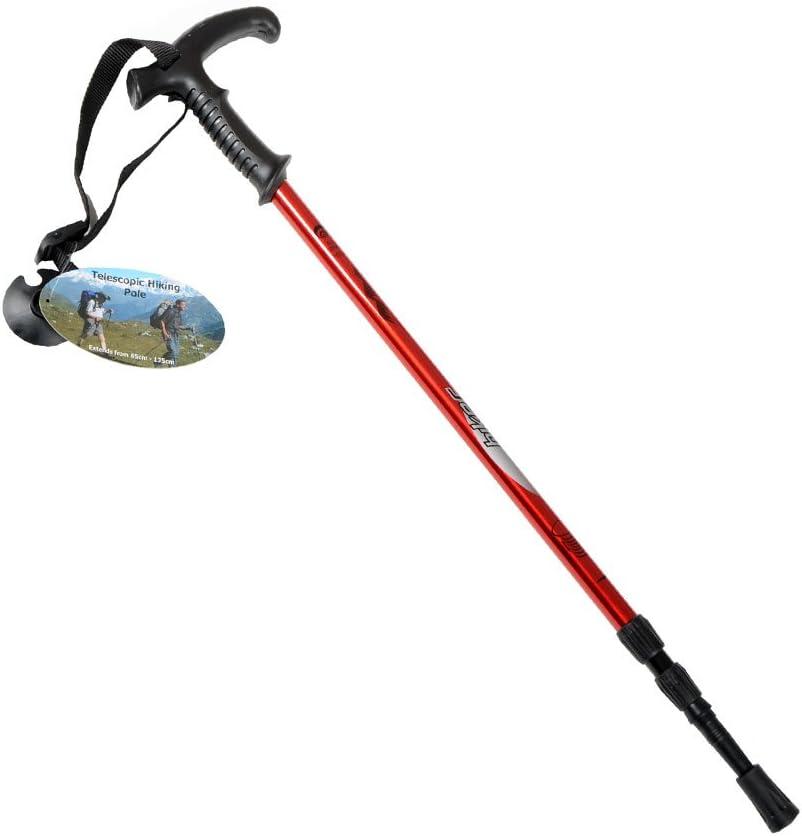 Integrated Compass Adtrek Antishock Extending Hiking//Walking Poles Adjustable Telescopic Sticks
