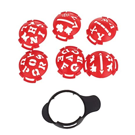 Amazon Golf Ball Marker Template Multi Template Red And Black