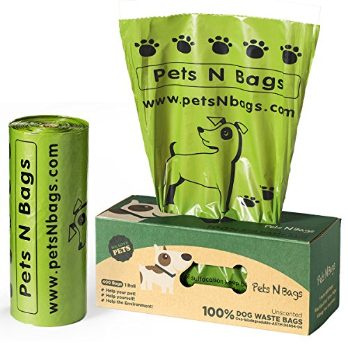Poop Bags, Environment Friendly Pets N Bags Dog Waste Bags, Refill Rolls, Includes Dispenser